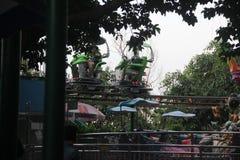 Vehículo de la reconstrucción que corre en aire Foto de archivo libre de regalías