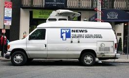 Vehículo de las noticias NY1 Foto de archivo libre de regalías