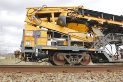 Vehículo de mantenimiento de la pista ferroviaria Fotografía de archivo