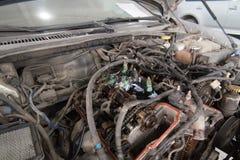 Vehículo de motor desmontado imagen de archivo