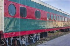 Vehículo de pasajeros del ferrocarril del vintage Fotos de archivo libres de regalías