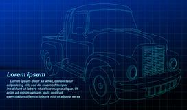 Vehículo del bosquejo del esquema del vector en modelo ilustración del vector