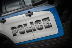 Vehículo del crucero de la policía fotos de archivo