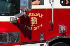 Vehículo del cuerpo de bomberos de la ciudad de Phoenix Foto de archivo libre de regalías