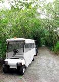 Vehículo del guardabosques de parque en reserva de naturaleza foto de archivo libre de regalías