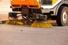 Vehículo del limpiador de calle Imagen de archivo libre de regalías