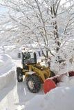 Vehículo del retiro de nieve Imagen de archivo libre de regalías