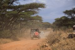 Vehículo del safari del transporte 007 Foto de archivo libre de regalías