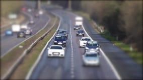 vehículo del transporte del camino del coche almacen de metraje de vídeo