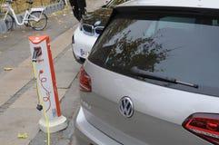 VEHÍCULO ELÉCTRICO DE VW Foto de archivo libre de regalías