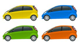 Vehículo eléctrico o coche híbrido Emoción de Electromobility Auto de alta tecnología respetuoso del medio ambiente Cambio fácil  libre illustration
