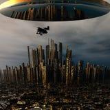 vehículo espacial extranjero del UFO 3d Fotografía de archivo libre de regalías