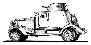 Vehículo ligero blindado del vintage Fotografía de archivo libre de regalías