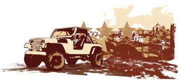 Vehículo militar de la vendimia Fotografía de archivo libre de regalías