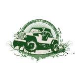 Vehículo militar de la vendimia stock de ilustración