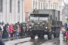 Vehículo militar en un evento nacional Imagen de archivo