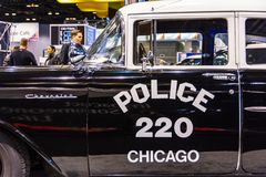 Vehículo policial 1957 de Chicago fotografía de archivo