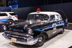 Vehículo policial 1957 de Chicago foto de archivo