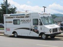 Vehículo policial grande Imágenes de archivo libres de regalías