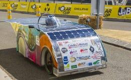 Vehículo solar - taza solar 2017 Fotografía de archivo