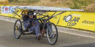 Vehículo solar - taza solar 2017 Foto de archivo
