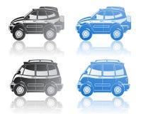 vehículo y minivan del Todo-camino Foto de archivo libre de regalías
