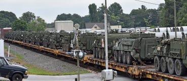 Vehículos blindados de transporte de personal de los E.E.U.U. Stryker foto de archivo libre de regalías