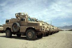 Vehículos blindados listos para la edición en Afganistán fotos de archivo