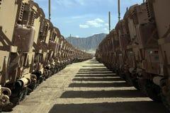 Vehículos blindados listos para la edición en Afganistán foto de archivo