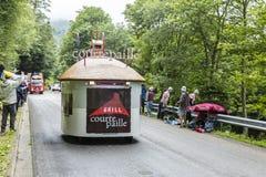 Vehículos de Courtepaille - Tour de France 2014 Fotos de archivo