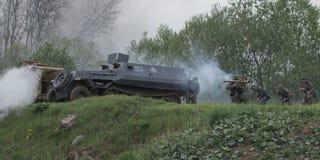 Vehículos de ejército Fotos de archivo libres de regalías