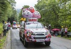 Vehículos de Haribo - Tour de France 2014 Imagen de archivo libre de regalías