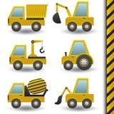 Vehículos de la construcción stock de ilustración