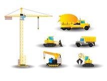 Vehículos de la construcción fijados ilustración del vector
