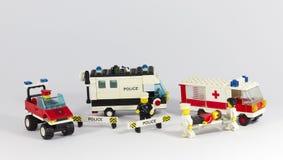 Vehículos de la emergencia imagen de archivo libre de regalías