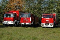 Vehículos de lucha contra el rescate y el fuego Foto de archivo libre de regalías