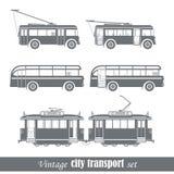Vehículos de transporte de la ciudad del vintage Fotografía de archivo