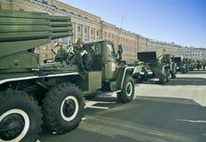 Vehículos del misil alineados Fotografía de archivo libre de regalías