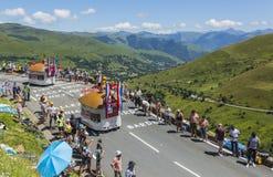 Vehículos del restaurante de Courtepaille - Tour de France 2014 Fotos de archivo libres de regalías