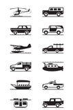 Vehículos del safari y de la aventura Imagen de archivo libre de regalías