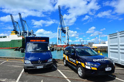 Vehículos del servicio de aduanas de Nueva Zelanda Fotografía de archivo libre de regalías