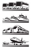 Vehículos del transporte del pasajero Fotos de archivo libres de regalías