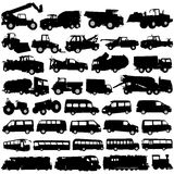 Vehículos del transporte y de la construcción Imagen de archivo