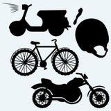 Vehículos des dos ruedas Imágenes de archivo libres de regalías