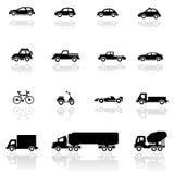 Vehículos determinados del icono Imagen de archivo