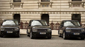 Vehículos diplomáticos Foto de archivo