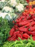 Verduras en el mercado foto de archivo