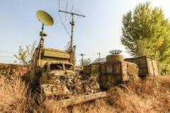 Vehículos militares abandonados Foto de archivo