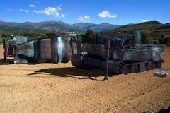Vehículos oxidados de la guerra Fotos de archivo libres de regalías