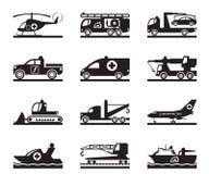 Vehículos para los accidentes y las emergencias Fotos de archivo